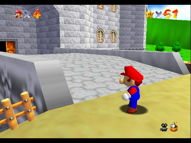 Super Mario 64 - Cut-Scene  - did the door opened itself? - User Screenshot